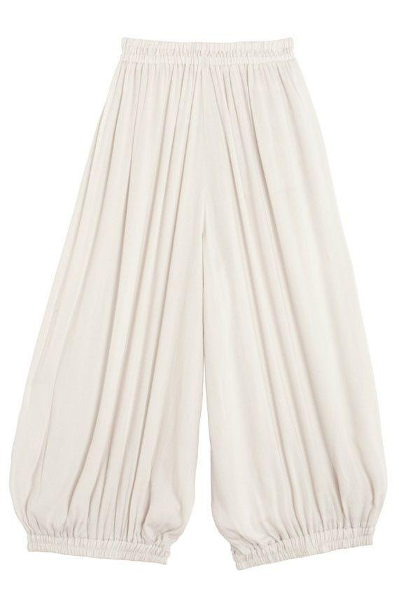 Black Crane - Cream Lana Balloon Pant | BONA DRAG