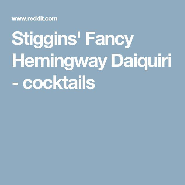 Stiggins' Fancy Hemingway Daiquiri - cocktails