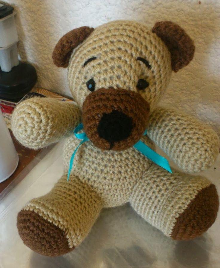 Lujoso Oso De Peluche Patrón De Crochet Afghan Ideas - Manta de ...