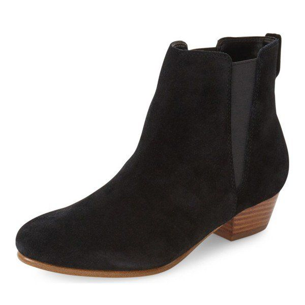 Women's Fall and Winter Fashion Ankle Booties Black Vintage Boots Suede Round Toe Chunky Heels Comfortable Ankle Boots Stitch Fix Fall 2017 Fall Fashion Outfits 20174 Fall Fashion Trends 2017 Vintage Style Ankle Booties for Work, School | FSJ