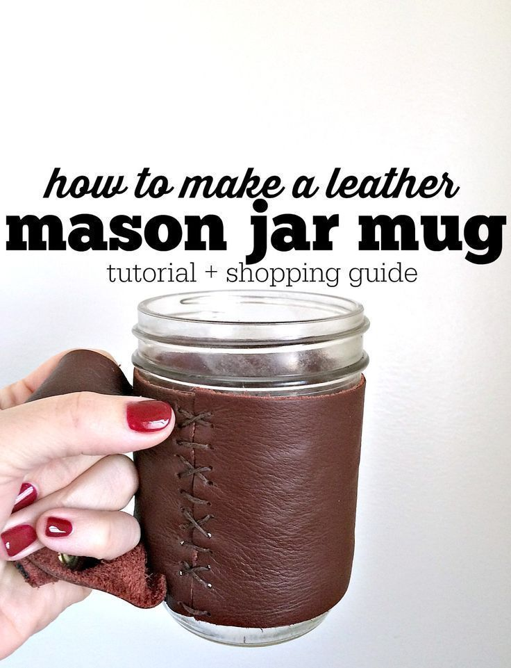 Make your very own mason jar mug! Perfect for hot coffee or tea. It makes the PERFECT gift! Click through for a tutorial!!