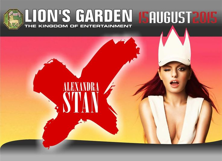 Alexandra Stan Concert advertising design for Lion's Garden - Cyprus. They use it on internet and bilboard advertising.