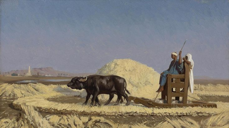 Egyptian Grain-cutters Painting