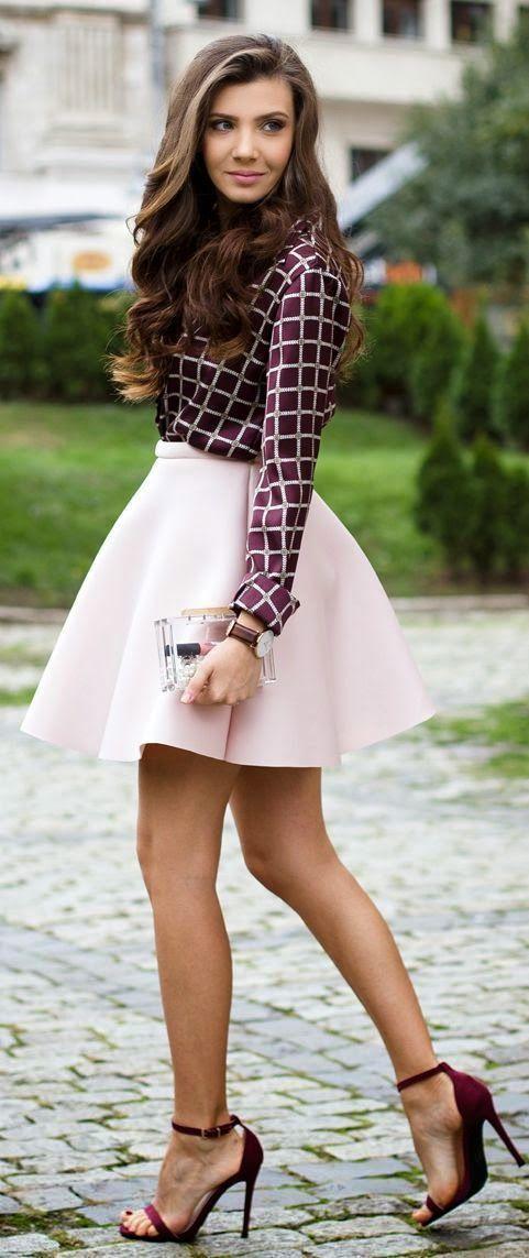 Cute Skirt Outfit Idea