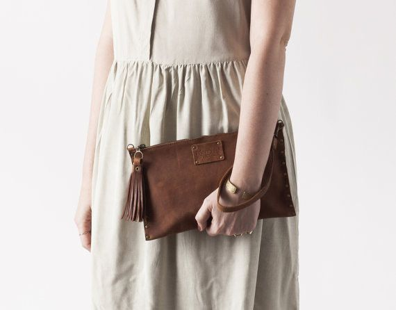 This leather clutch meant for everyday use or for evening.This leather clutch is handmade and hand sewn in limited addition collection. Perfect for weddings, dinner parties or for everyday use to...