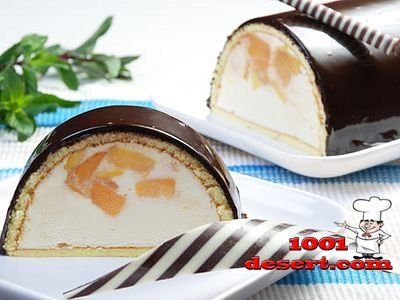 Холодный десерт без выпечки «Персик в молоке»