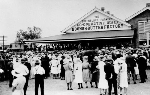 Opening of the addition to the Boonah Butter Factory, February 1933.