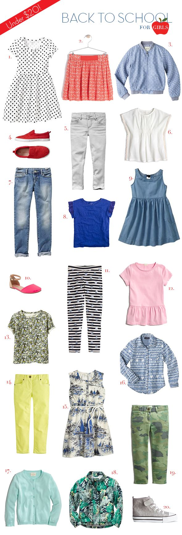 20 back to school finds for $20 or less: girls!