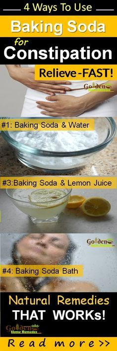 Baking Soda for Treating Constipation: 4 Effective Natural and Easy Home Remedies to Relief Constipation with Baking Soda. How to Use Baking Soda to Get Rid of Constipation?