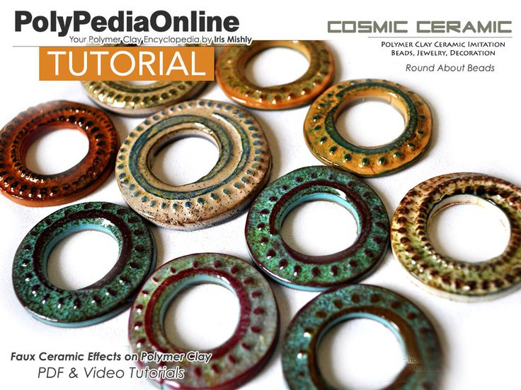 Polymer clay tutorial demonstrating how to create faux ceramic beads made of polymer! #polymerclaytutorial #polymerclay #polymerclayjewelry #polymerclaybeads
