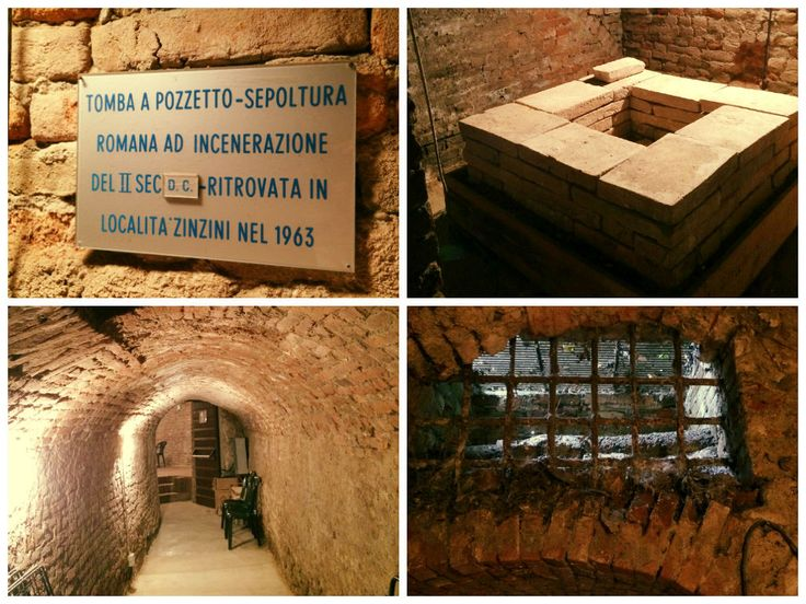 Roman grave, Pozzolo Formigaro Castle, Italy