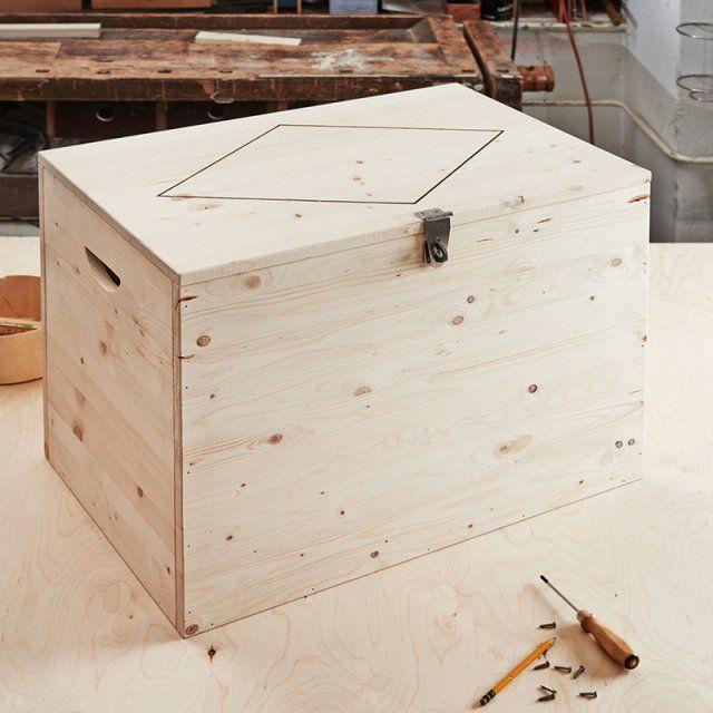 Un coffre de rangement en bois à fabriquer soi-même
