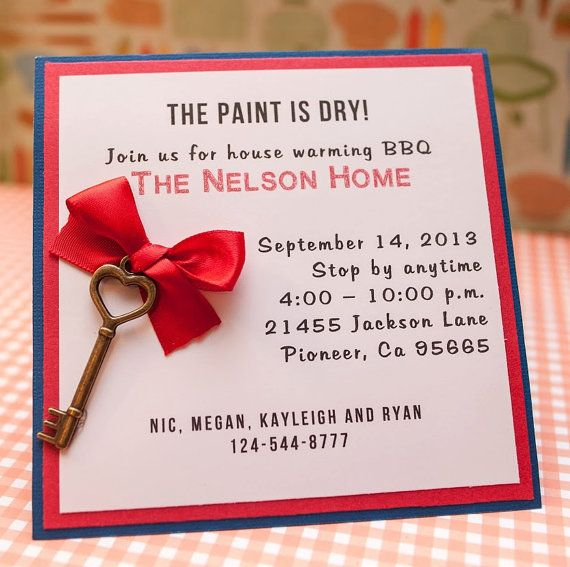 Send Your Moving Announcement Out In Style! These 5x5 Invites Are Handmade  And Layered For