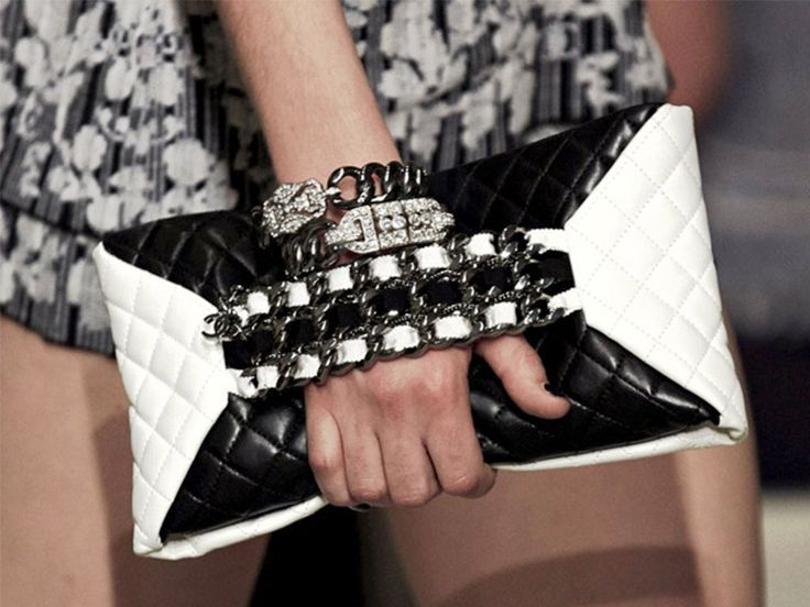 Chanel Cruise Black and White Bag 2014