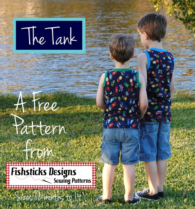The Tank - a Free Tanktop Sewing Pattern in Sizes 12 months to 14   Fishsticks Designs Blog