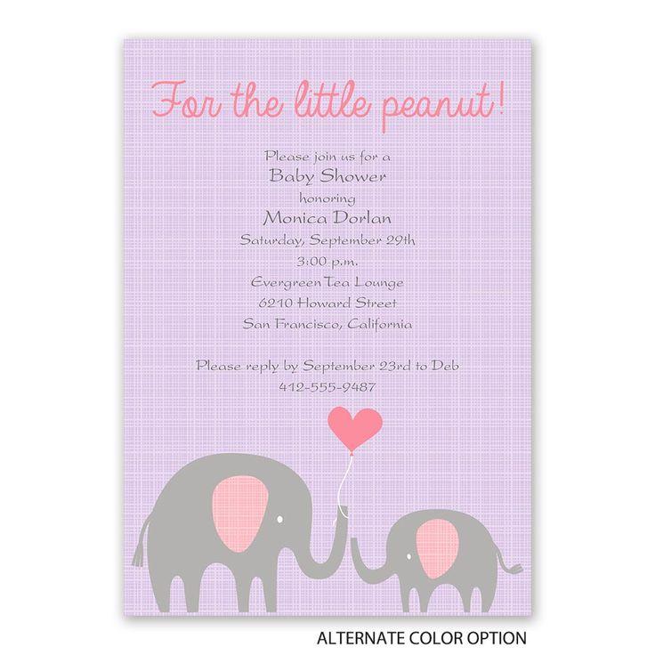 Little Peanut Baby Shower Invitation Cute