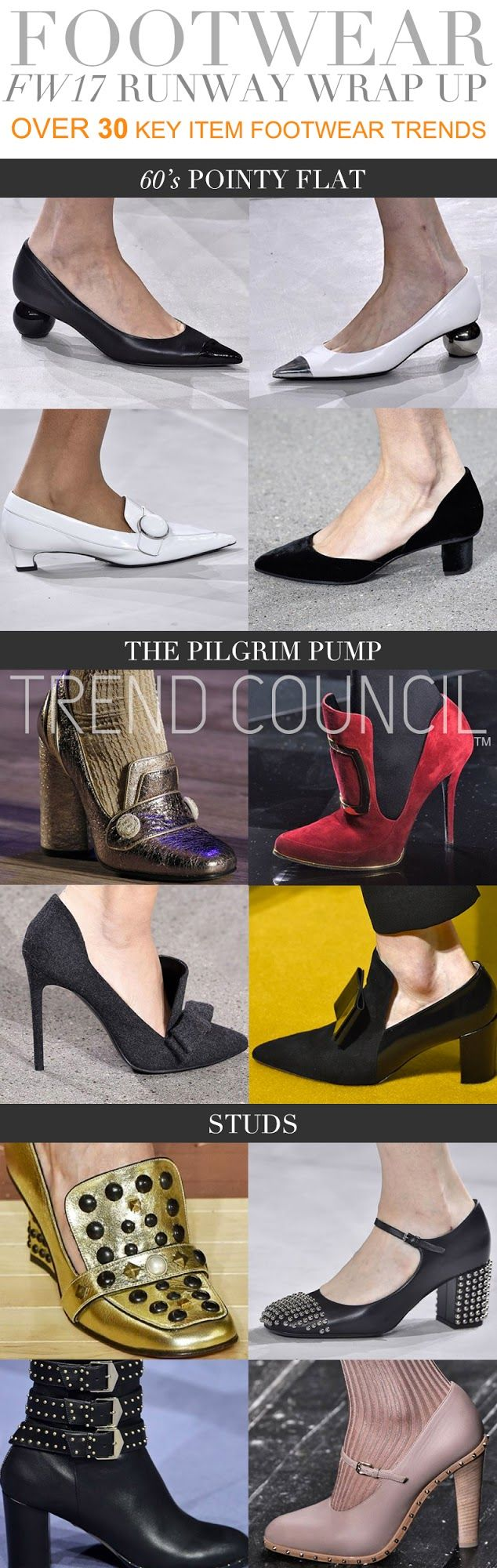 FASHION VIGNETTE: TRENDS // TREND COUNCIL - WOMENS FOOTWEAR . F/W 20...
