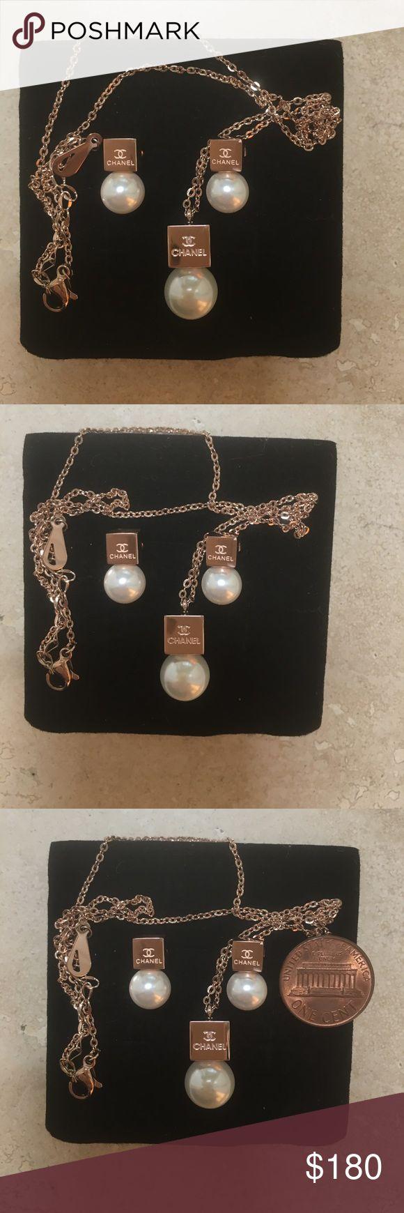 Chanel Pearls Earrings Necklace