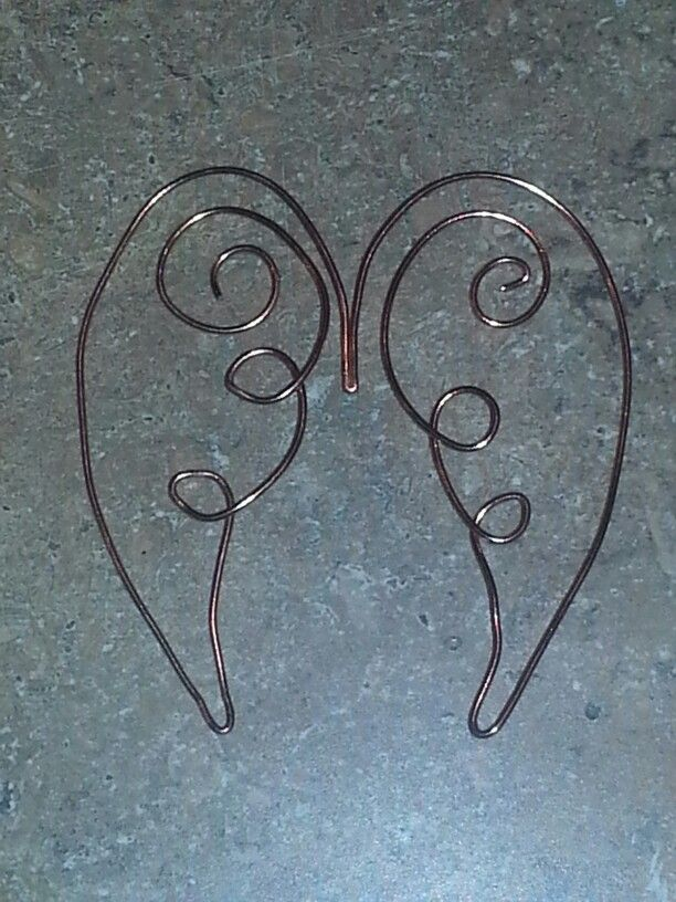 TwisTed wire angel wings bookmark
