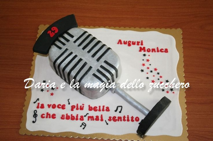 #Torta microfono vintage #Vintage microphone  cake #