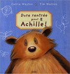 Les élèves sont ravis, un nouvel élève va venir rejoindre leur classe. Mais il s'agit d'Achille, un énorme grizzli poilu avec de grosses pattes et d'énormes dents. Même s'il ne demande qu'à se faire des amis, Achille effraie tous les autres animaux. Jusqu'à ce que ces derniers se rendent compte qu'avoir un copain gros et terrifiant peut être très utile. Un album sur l'acceptation de la différence.