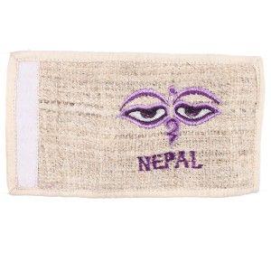 Buddha eye hemp wallet