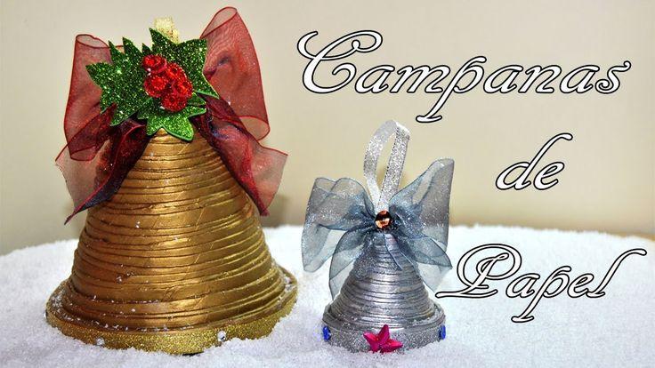 DIY : Campana de papel periódico para decorar esta Navidad