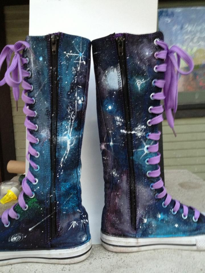 Diy galaxy, Galaxies and Boots on Pinterest