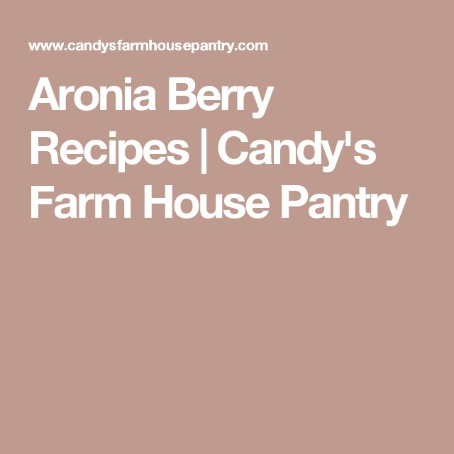 Aronia Berry Recipes | Candy's Farm House Pantry