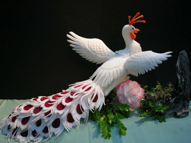 Fruit Carving - Vegetable Carving - Peacock02.jpg 1,024×768 pixels