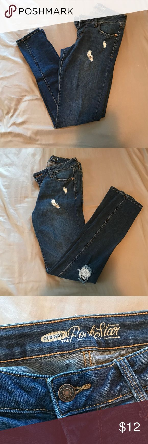 Old navy rock star jeans Old navy rockstar jeans. Worn handful of times, great condition! Old Navy Pants Skinny