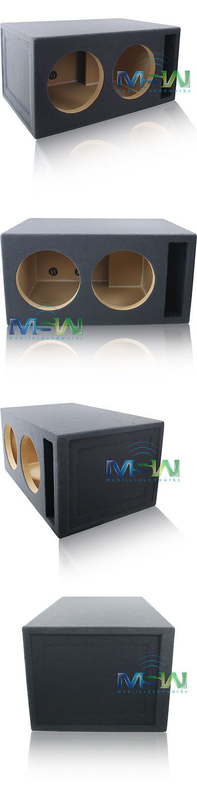 Speaker Sub Enclosures: Custom Slot-Ported Mdf Enclosure Box For (2) 12 Sub Woofers 4 Ft^3 Tuned @ 32Hz -> BUY IT NOW ONLY: $159.99 on eBay!
