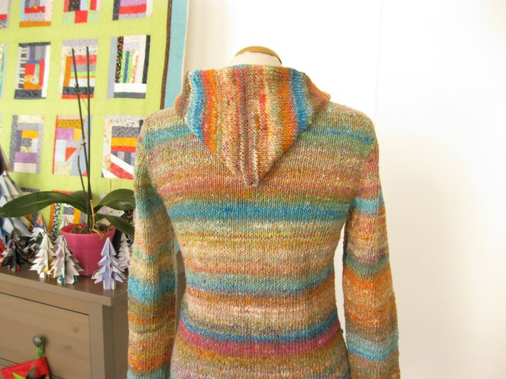 #Dotquilts #knitting #hooded #sweater #Noro