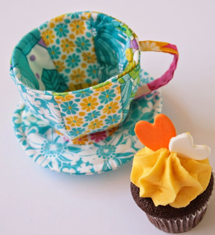 17 Best Images About Fabric Tea Set On Pinterest Sewing