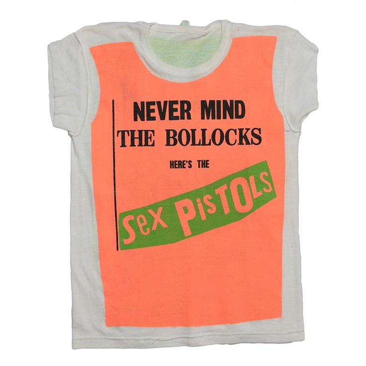 This is an original 1977 Sex Pistols Never Mind The Bollocks Promo Shirt. 100% original vintage, 100% authentic vintage. Made in limited quantities, these were issued to record stores and reps to help promote the Sex Pistols upcoming album, NeverMind the Bollocks. These shirts were made to look lik