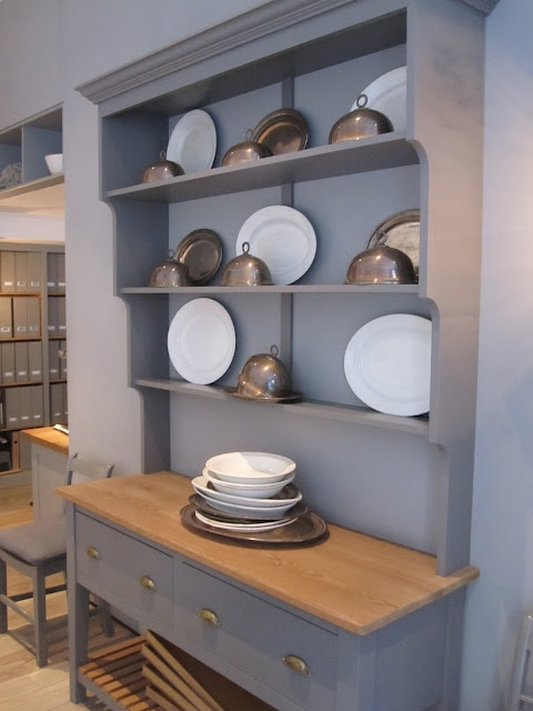 Henhurst Interiors: London Calling- Plain English Welsh dresser & shelves