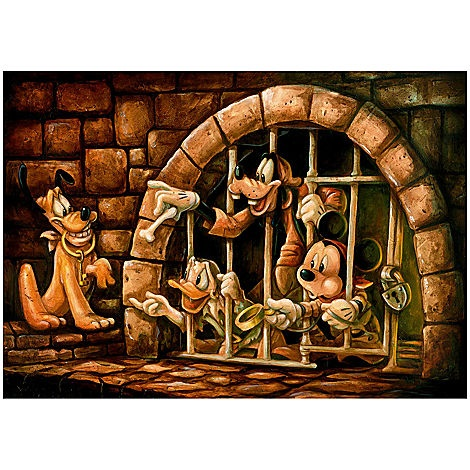 ''Here Poochie'' Pirates of the Caribbean Mickey Mouse Giclée by Darren Wilson | Giclees | Disney Store