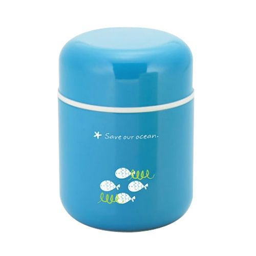 Korean Echo Vacuum stainless steel Thermos Food Jar Thermal Container Soup  Blue #Twingo