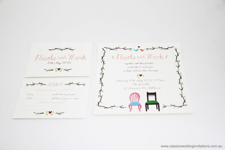 Wedding Invitations | New designs – Mr and Mrs Chair Invitation