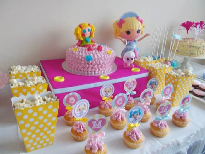 Lalaloopsy Birthday Party with Such Cute Ideas via Kara's Party Ideas KarasPartyIdeas.com #lalaloopsyparty #girlparty #dollparty #partydecor...