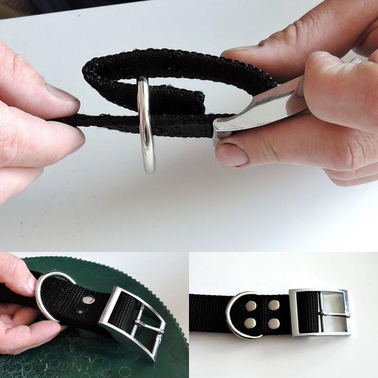 Bei der Herstellung von Halsbändern für Hunde kann der Lederriemen durch Polypropylen-Gurtband ersetzt werden. In unserer Foto-Anleitung erfahren Sie, wie man ein solches Halsband mit Hilfe von Nieten und Lötkolben herstellt.
