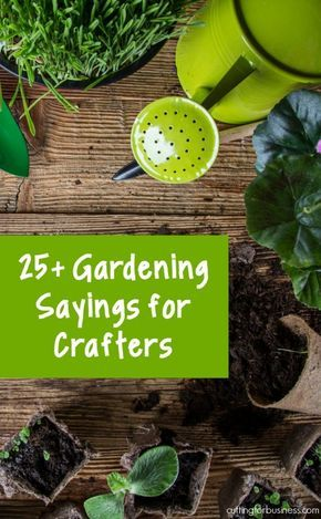 25+ Gardening Sayings for Silhouette Cameo or Cricut Explore Small Business Crafters - by cuttingforbusiness.com