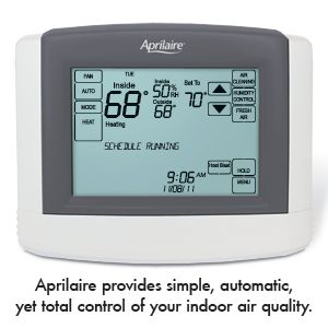 fully automatic whole house humidifier takes the guesswork out! aprilaire-model-8620-thermostat-sm