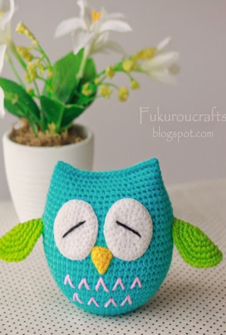 Amigurumi Crochet Pattern: Adorable Crochet Owl Doll With Sleepy Eyes