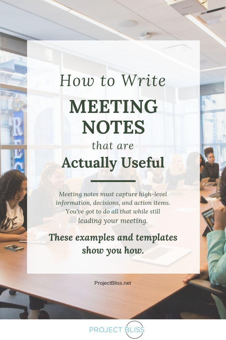 Einfache Richtlinien für hervorragende Besprechungsnotizen – Vorlagen und Beispiele enthalten