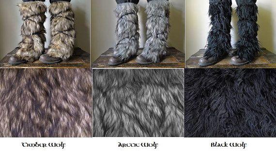 Viking polainas de piel / Boot cubiertas por FolkOfTheWood en Etsy