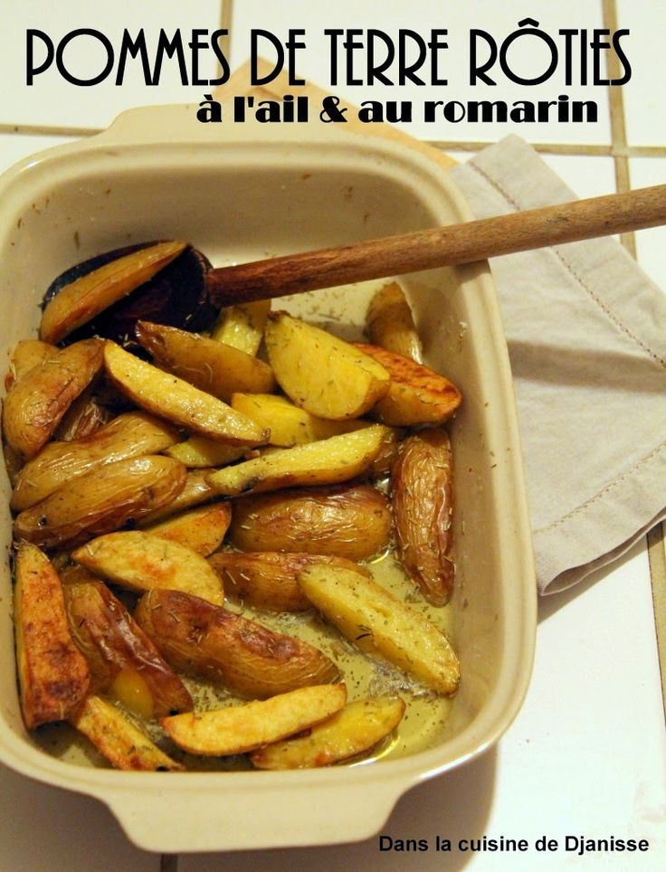SANS GLUTEN SANS LACTOSE: Pommes de terre rôties à l'ail et au romarin sans gluten et sans lactose
