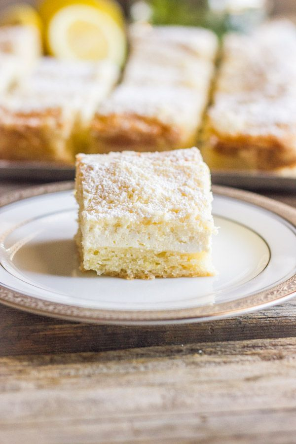 This Greek Yogurt Cream Cheese Lemon Coffee Cake is sweet and moist with a light lemon flavor and a creamy, crumbly topping.
