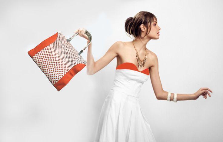 women's weaving bag (leather)