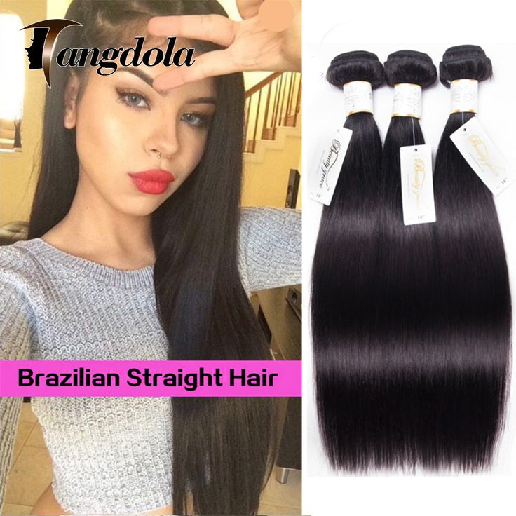 8a Brazilian Virgin Hair Straight  Mink Brazilian Straight Hair 3 Bundles Brazillian Human Hair Weave Bundles Rosa Hair Products